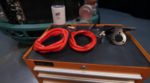 Coolant filtration system components