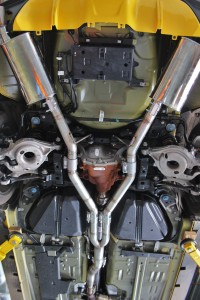 Mishimoto second prototype for the Mustang EcoBoost exhaust