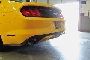 Mishimoto 2015 Mustang EcoBoost exhaust fully installed