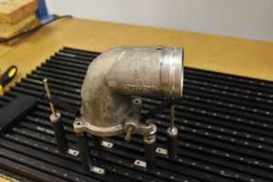 Factory 6.0 intake elbow on CMM table