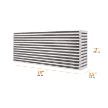 "Universal Air-to-Air Race Intercooler Core 20"" x 11"" x 3.5"""