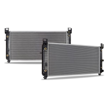 """GMC Yukon w/ 34"""" Core, Transmission Oil Cooler, and Engine Oil Cooler Replacement Radiator, 2000-2014"""