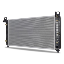 """Chevrolet Silverado w/ 34"""" Core, Transmission Oil Cooler, and Engine Oil Cooler Replacement Radiator, 2003-2013"""