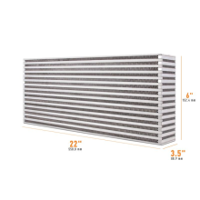 Universal Air-to-Air Race Intercooler Core 558.8mm x 152.4mm x 88.9mm