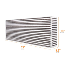 "Universal Air-to-Air Race Intercooler Core 25"" x 11.8"" x 3.5"""