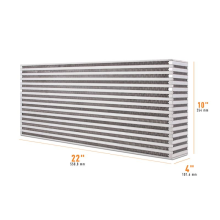 "Universal Air-to-Air Race Intercooler Core 22"" x 10"" x 4"""