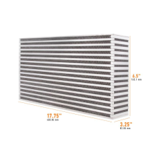 "Universal Air-to-Air Race Intercooler Core 17.75"" x 6.5"" x 3.25"""